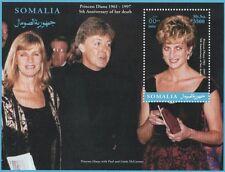 Principessa Diana PAUL AND LINDA McCARTNEY Somalia 2002 MNH STAMP SHEETLET