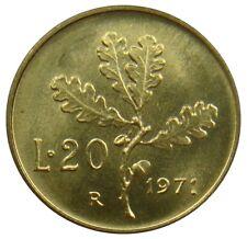 (N81) - Italien Italy - 20 Lire 1971 - Eichenzweig Oak leaves - UNC - KM# 97