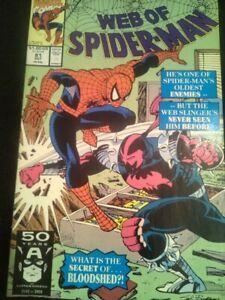 WEB OF SPIDER-MAN / No 81, October 1991 / MARVEL USA