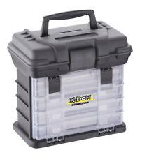 K-DON Gerätekoffer 1005 inkl. 4 Boxen - 28x18x27cm Angelkoffer/Angelkasten