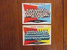 PIRATES(6th Series Checklist)/Yankees(4th Series Checklist)1960 Topps Team Cards