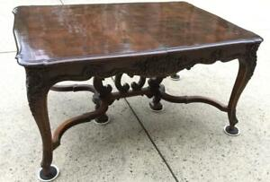 French Antique Louis XV Style Walnut Dining Table Expands to 11 Feet Long