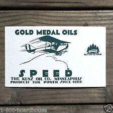 Vintage Original GOLD MEDAL OILS Advertising Blotter 1910s NOS Airplane Unused