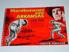 """"""" MORDBRENNER VON ARKANSAS """" - KLAUS DILL - seltene  Filmwerbung aus 60er Jahren"""