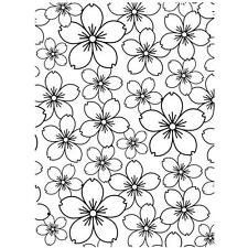 Darice Embossing Folder CHERRY BLOSSOM Flower Background   A2 1218-67
