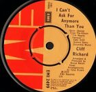 "CLIFF RICHARD i can't ask for anymore than you 7"" WS EX/ uk emi EMI 2499"