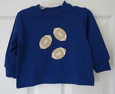 NWT Kelly's Kids Blue Depths Jersey Football Applique Shirt Boy's Size 12M