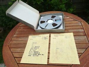 "AMPEX 456 GRAND MASTER Studio Mastering 1"" inch Zoll AUDIO TAPE Tonbandspule"