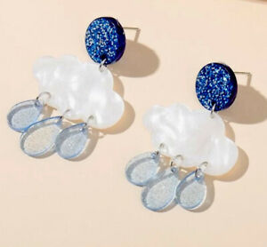 Acrylic Cloud Earrings