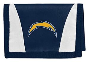 NEW Los Angeles Chargers Football League Licensed Nylon Tri-Fold Chamber Wallet