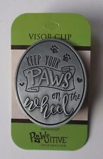 b Keep your paws on the wheel cat dog lover VISOR CLIP angelstar