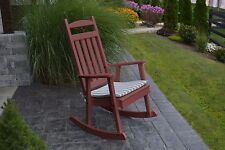 POLY CLASSIC ROCKING CHAIR *CHERRY WOOD COLOR* - PORCH ROCKER-Amish Made in USA
