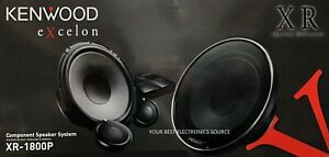 """NEW Kenwood XR-1800P Excelon 7"""" Audio Component Speaker System (PAIR)"""