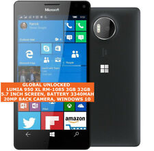 "MICROSOFT LUMIA 950XL RM1085 3gb 32gb Octa-Core 20mp 5.7"" Windows 10 Smartphone"