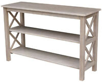 TV Console Table Stand Living Room Furniture Solid Wood Finish Style Home Decor