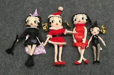 Lot Of 4 Betty Boop Collectable Plush Dolls KellyToy