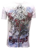 Konflic NWT Men's Cyclops Graphic Designer MMA Muscle Crewneck T-shirt, White