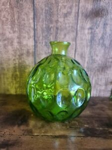 Large Vintage Round Green Vase - Tropical