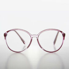 Round Oversized Women's Pink Clear Lens Glasses - Virginia