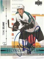 2002-03 Upper Deck Honor Roll Autographed Teemu Selanne San Jose Sharks Card 51