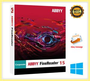 ABBYY FineReader Corporate 15 Full Version ✅ lifetime activation