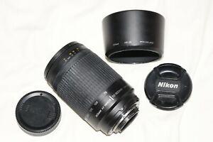 Nikon AF Nikkor 70-300mm f4-5.6 G Zoom Lens with HB-26 Hood