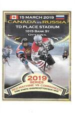 CANADA Commandos - RUSSIA Red Machine 15.3.2019 Friendly Hockey Program