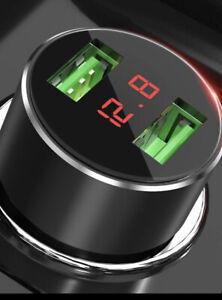 USB 2 Port Car & Boat Phone Charger Socket With Volt Meter Display, 12V-24V