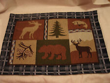 Set Of 4 Wilderness Themed Tapestry Placemats