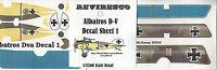 Albatros D-V - Deutscher Jäger - WW 1 - Decal Set - von Schleich Jasta 21 - 1:72