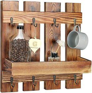 offee Mug Holder Wall Mounted,Grelumi Coffee Mug Rack , Wall Shelf with 8 Hooks