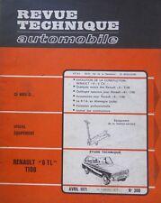 Revue technique RENAULT 6 TL 1100 cm3 type R 1181 RTA N° 300 1971 R6