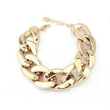 Women's Gothic Gold Black Silver Link Chain Cuff Acrylic Cool Bracelet Anklet