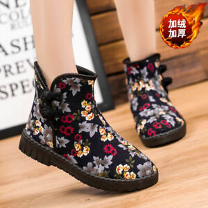 Women's Casual Retro Winter Thick Cotton Warm and Velvet Non-Slip Short Boots