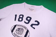 Abercrombie & Fitch Herren T-Shirt Indianer Motiv Weiß Größe S