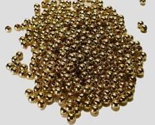 500 Perlen gold 8mm Hochzeit Basteln Dekoperlen Weihnachten Advent Perle