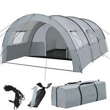 XXL Tunnelzelt 4 - 6 Personen Familienzelt Campingzelt Gruppen Tunnel Zelt grau