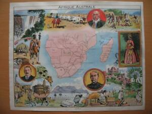1948 - PINCHON - Illustrated historical map SOUTH AFRICA  MADAGASCAR ZANGUEBAR