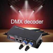 4CH DC12-24V RGBW DMX 512 Decoder LED Controller RGB LED DMX512 Decoder F5