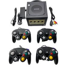 Nintendo GameCube Konsole Schwarz + 4 Controller + Kabel