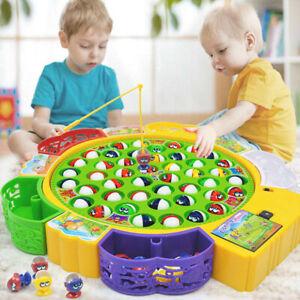 45-tlg Magnet Angelspiel Set Elektrisch Fischfang Spielzeug Kinder Wasserspiel