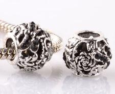 2pcs silver dragonfly black CZ spacer beads fit Charm European Bracelet #B964