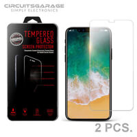 2 X iPhone X XS Premium HD Full Coverage Tempered Glass Screen Protector - USA