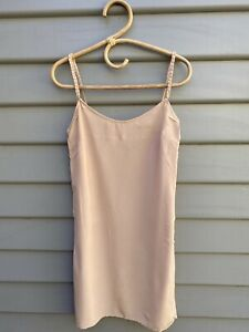 NOCTURNAL By Resham Meiwani Slip Dress Size M Fits Size 8/10 Silk Blush Lined