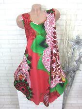 SOMMER Kleid Strandkleid Tunika Trägerkleid Hippie Koralle Gr. 46 48 50 (810)