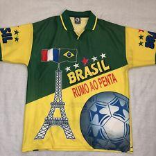 Vintage 1998 World Cup Brazil vs France Jersey Size Large Short Sleeve