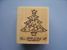 STAMPIN UP RUBBER STAMPS ALL SPRUCED UP CHRISTMAS TREE STAMP