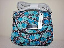 NWT Marc By Marc Jacobs Quilted Wildflower Messenger Bag, Gray Pinstripe