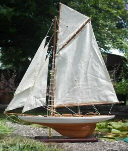 Fully rigged Lulworth Style Model Yacht