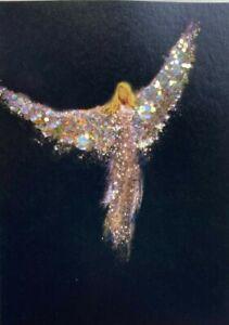 Glittered PRINT ACEO Angel Miniature Spiritual Religious Inspirational CCArtist